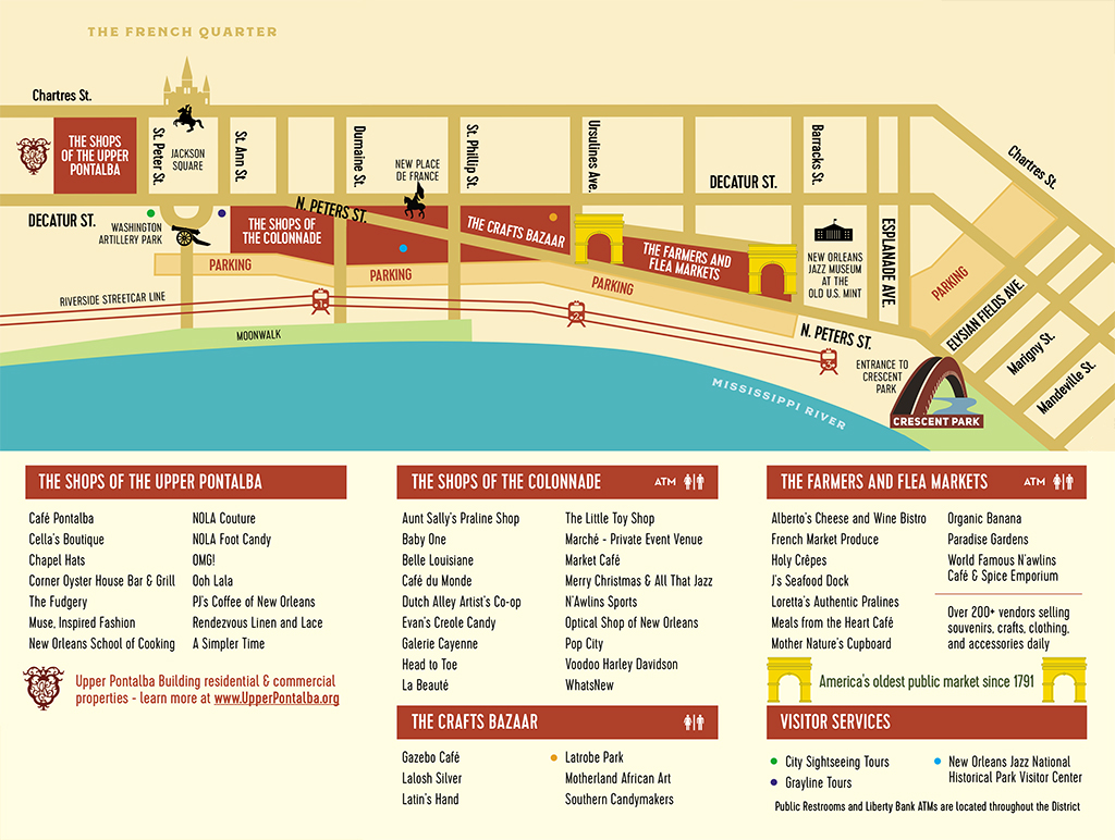French Market District Map